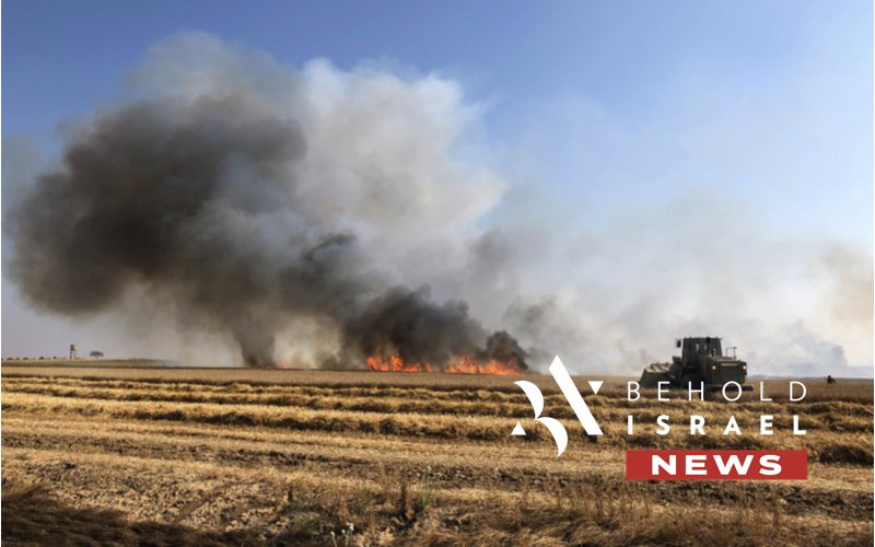 More Explosive Balloons Launched from Gaza Start Fires in Southern Israel, IDF Responds