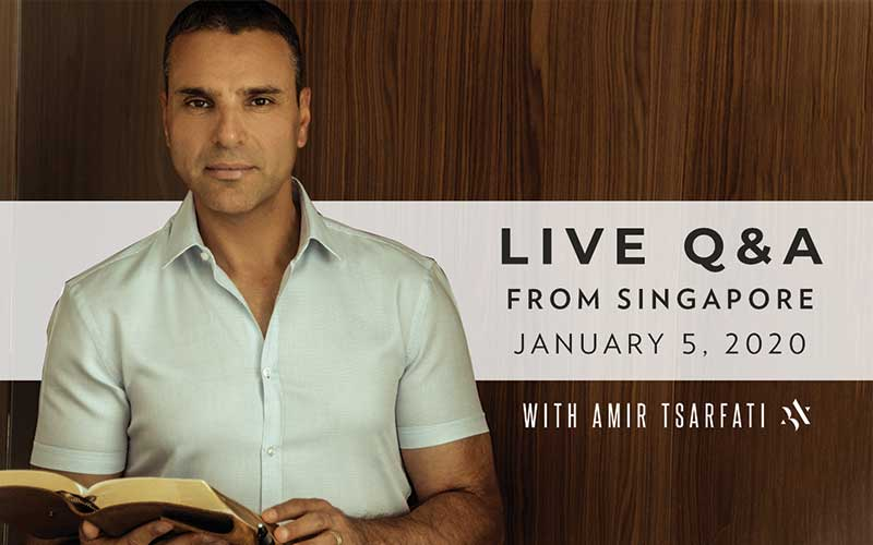 Live event with Amir Tsarfati in Singapore