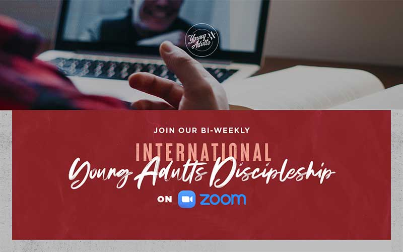 Special Young Adults Discipleship Live Q & A on ZOOM