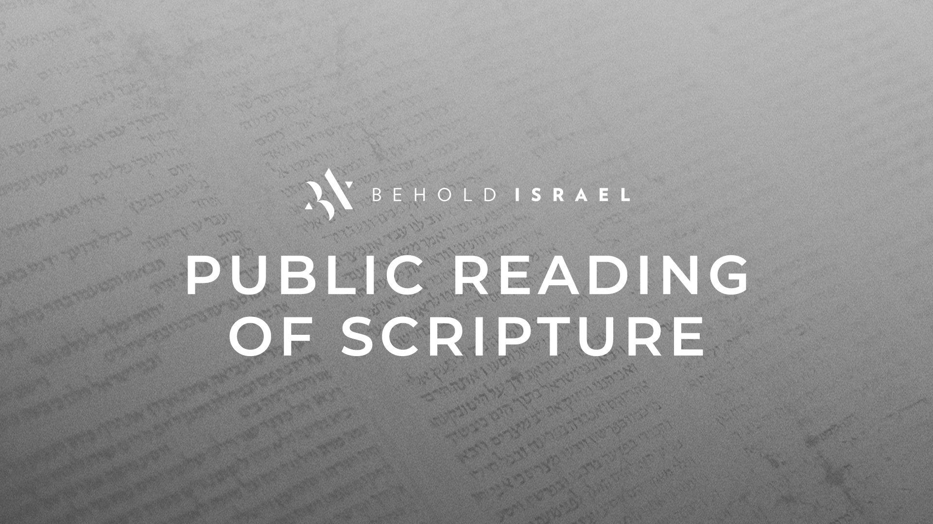 Public Scripture Reading Live on Facebook