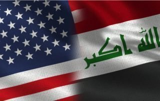 United States and Iraq Flags